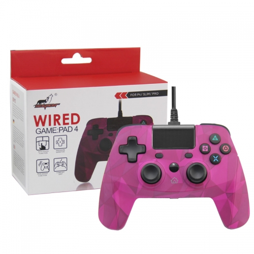 PS4/PS3/PC Wired Controller with sensor function  camouflage pink